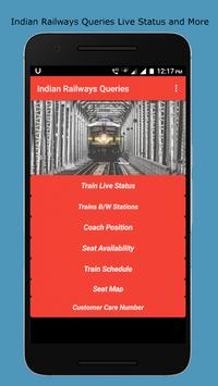 Indian Railways Enquiries (Live status and more) poster