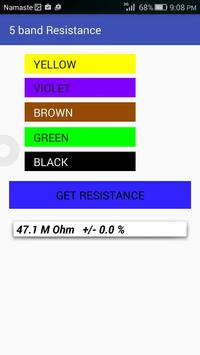 Resistor Color Code Calculator apk screenshot