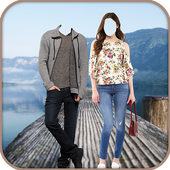 Jeans Couple Photo Suit Editor icon