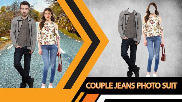 Jeans Couple Photo Suit Editor poster