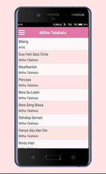 Lagu Ambon Mitha Talahatu Lengkap apk screenshot