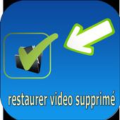 restore deleted video icon