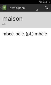 French-Nufi Dictionary apk screenshot