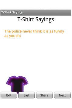 T-Shirt Sayings apk screenshot