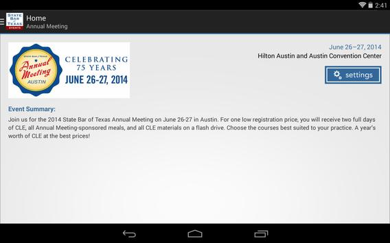 State Bar of Texas Events apk screenshot