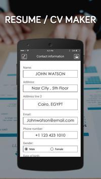 Free resume maker app-cv generator,create resume poster