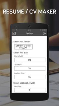 Free resume maker app-cv generator,create resume apk screenshot