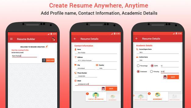 resume builder free quick cv maker templates apk download free