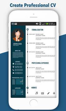 Free Resume Maker:Professional CV Builder JobSeek screenshot 1