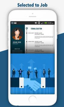 Free Resume Maker:Professional CV Builder JobSeek screenshot 3