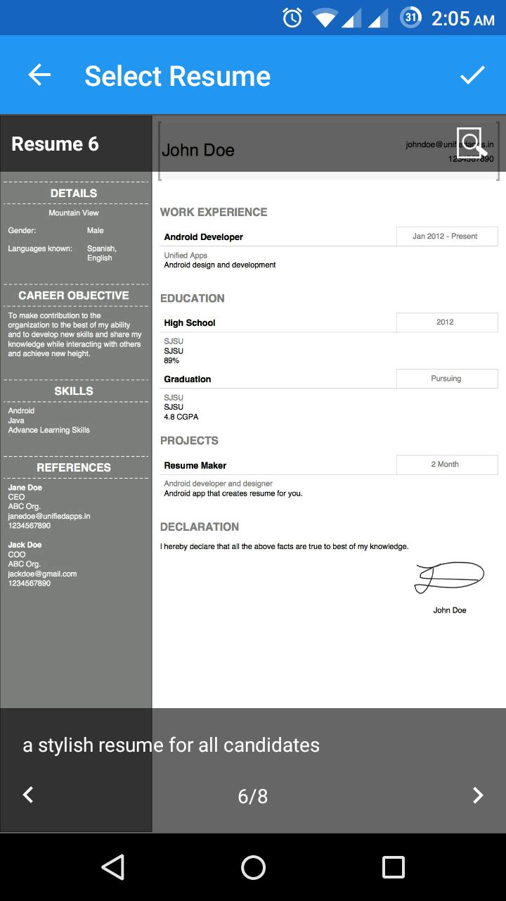 Make My Resume For Android Apk Download