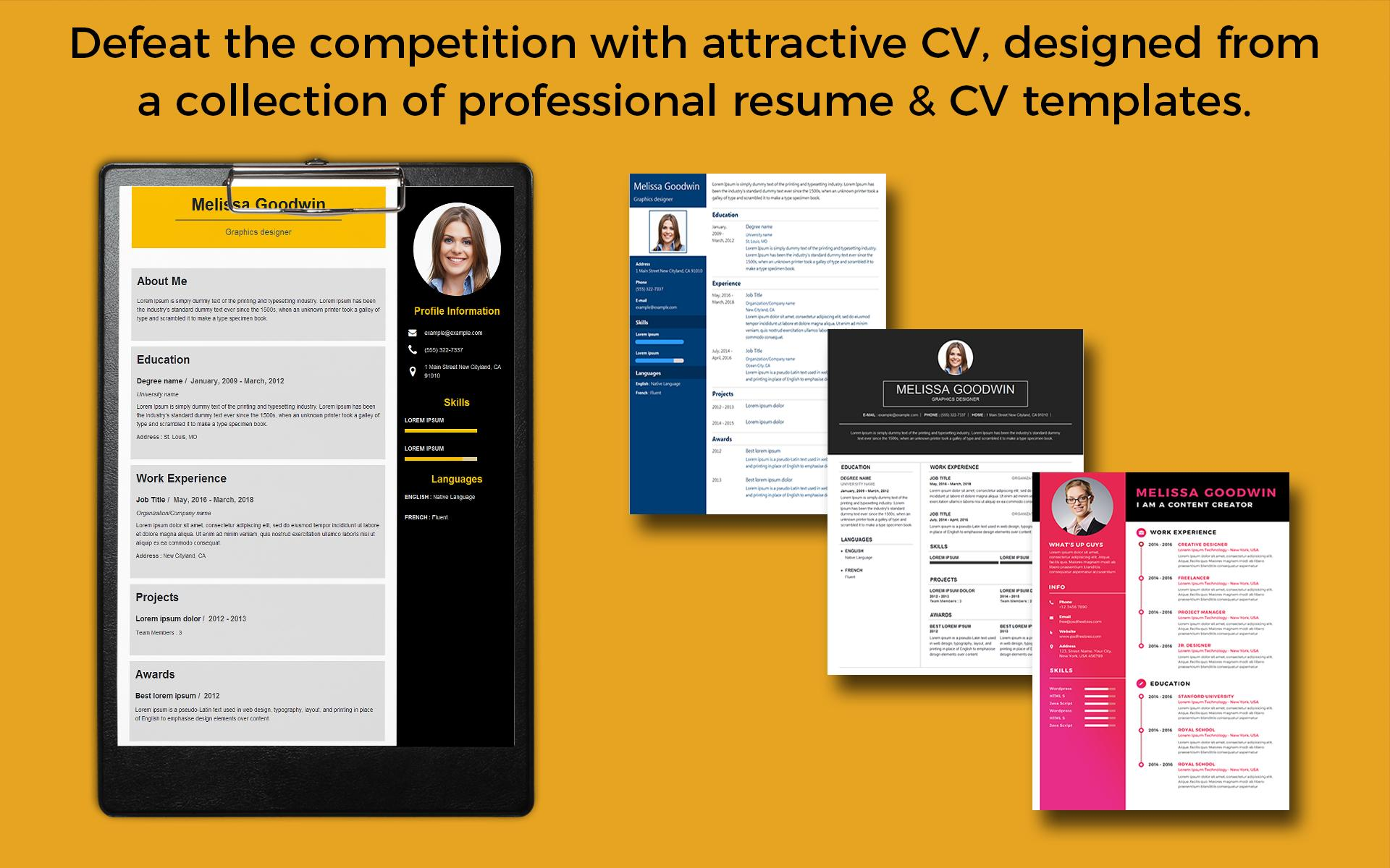 Resume Template Resume Builder Cover Letter For Android