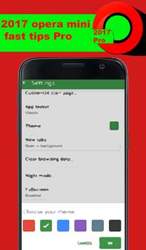 2017 opera mini fast tips pro apk screenshot