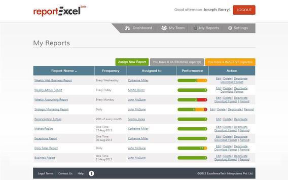 ReportExcel apk screenshot