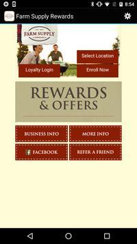 Farm Supply Rewards poster
