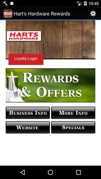 Hart's Hardware Rewards poster