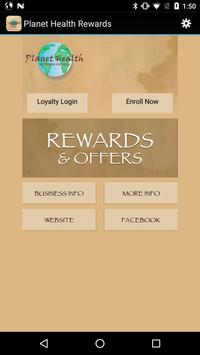Planet Health Rewards poster