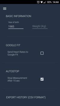 Heart Rate Monitor capture d'écran 4