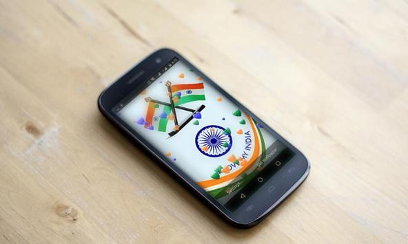 India Flag 3D Balloon HD LWP poster