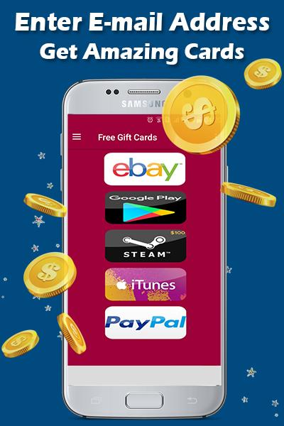 Free Gift cards generator - free Promo Codes for Android - APK Download