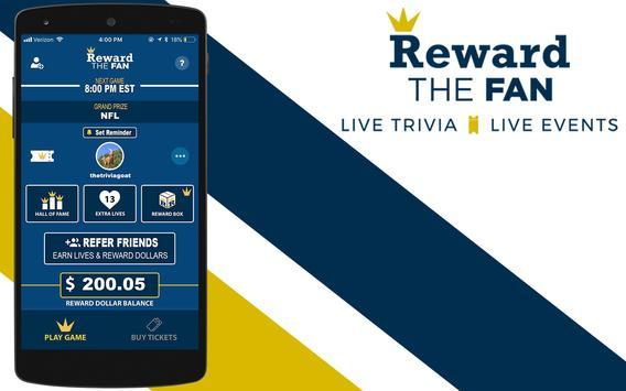Reward The Fan Trivia screenshot 4