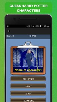 Guess Harry Potter Characters Challenge Game Free screenshot 2