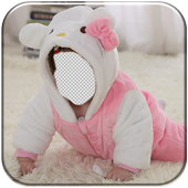 Baby Suit Funny Photo Montage icon