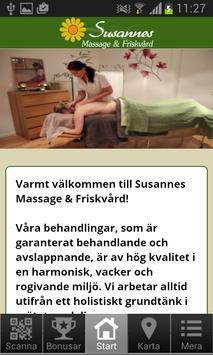 Susannes Massage & Friskvård poster