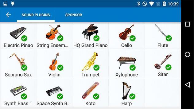 Harp Sound Effect Plug-in screenshot 1