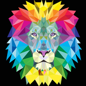 neon lion wallpaper icon