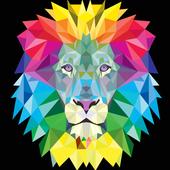 neon lion wallpaper icon