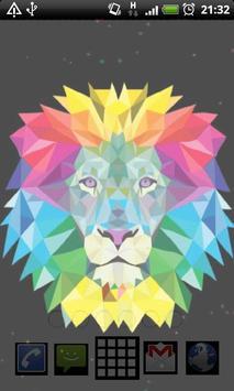 neon lion wallpaper apk screenshot