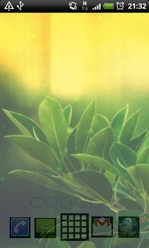 green leaf live wallpaper apk screenshot