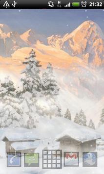 live wallpaper mountain snow screenshot 3