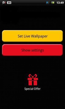 falling snowflake wallpaper apk screenshot