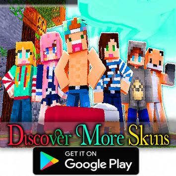 Skins Youtubers For Minecraft MCPE APK Download Free Adventure - Skin para youtuber minecraft indo