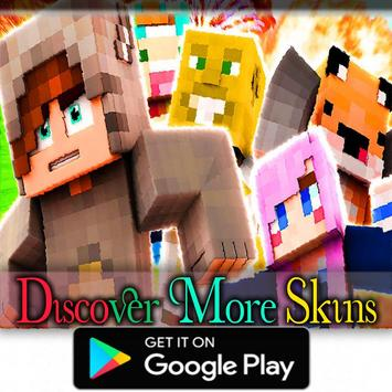 Skins Youtubers for Minecraft MCPE poster