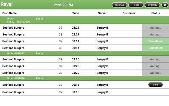 Revel KDS apk screenshot
