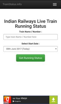 Train Live Running Status screenshot 1