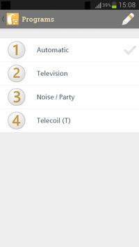 Programa de adaptación de audífonos connexx 7.