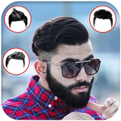Men hairstyle set my face 2018 icon