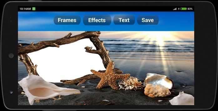 Cool Beach Photo Frames poster