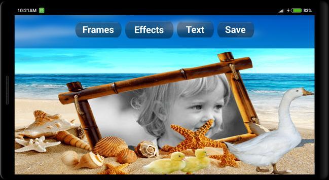 Cool Beach Photo Frames screenshot 5
