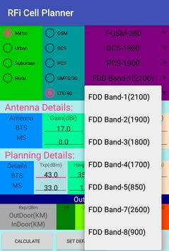 RFi Cell Planner apk screenshot