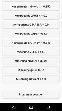 Alcohol Mixing Calculator - Ethanol Calculator apk screenshot