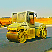 City Road Roller Construction icon