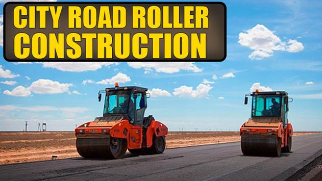 City Road Roller Construction poster