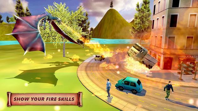Fire Dragon City Simulator Poster