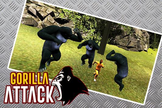 gorilla Attack Simulator 3D poster