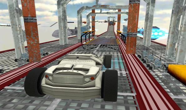 Space Car Stunt Racing and Parking Game screenshot 1